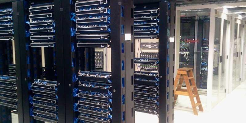 server racks in a data centre