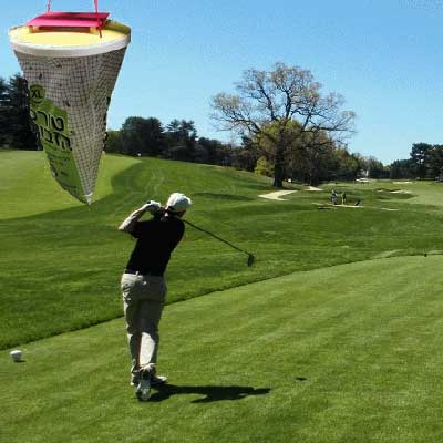 fly repellent by a golf tee